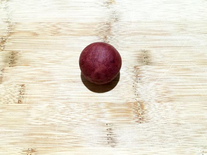 Shaping cake pop dough into a ball