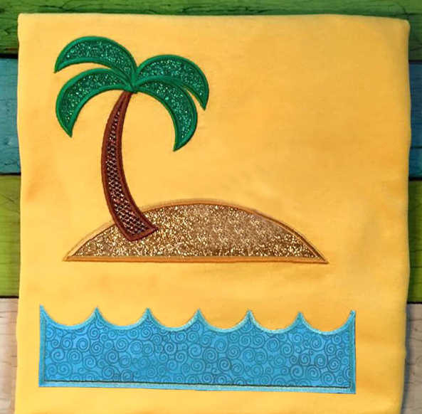 Island Split Applique Embroidery