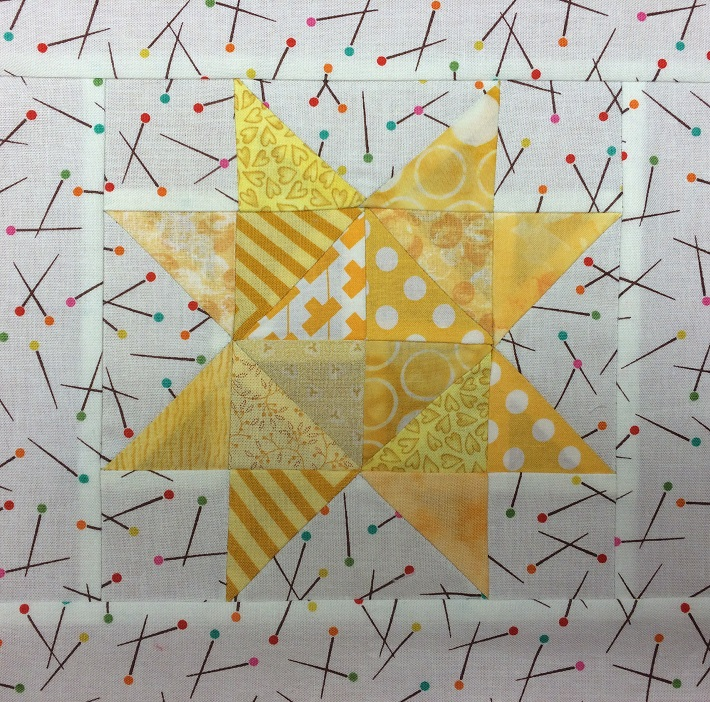 January Scrappy Star Block