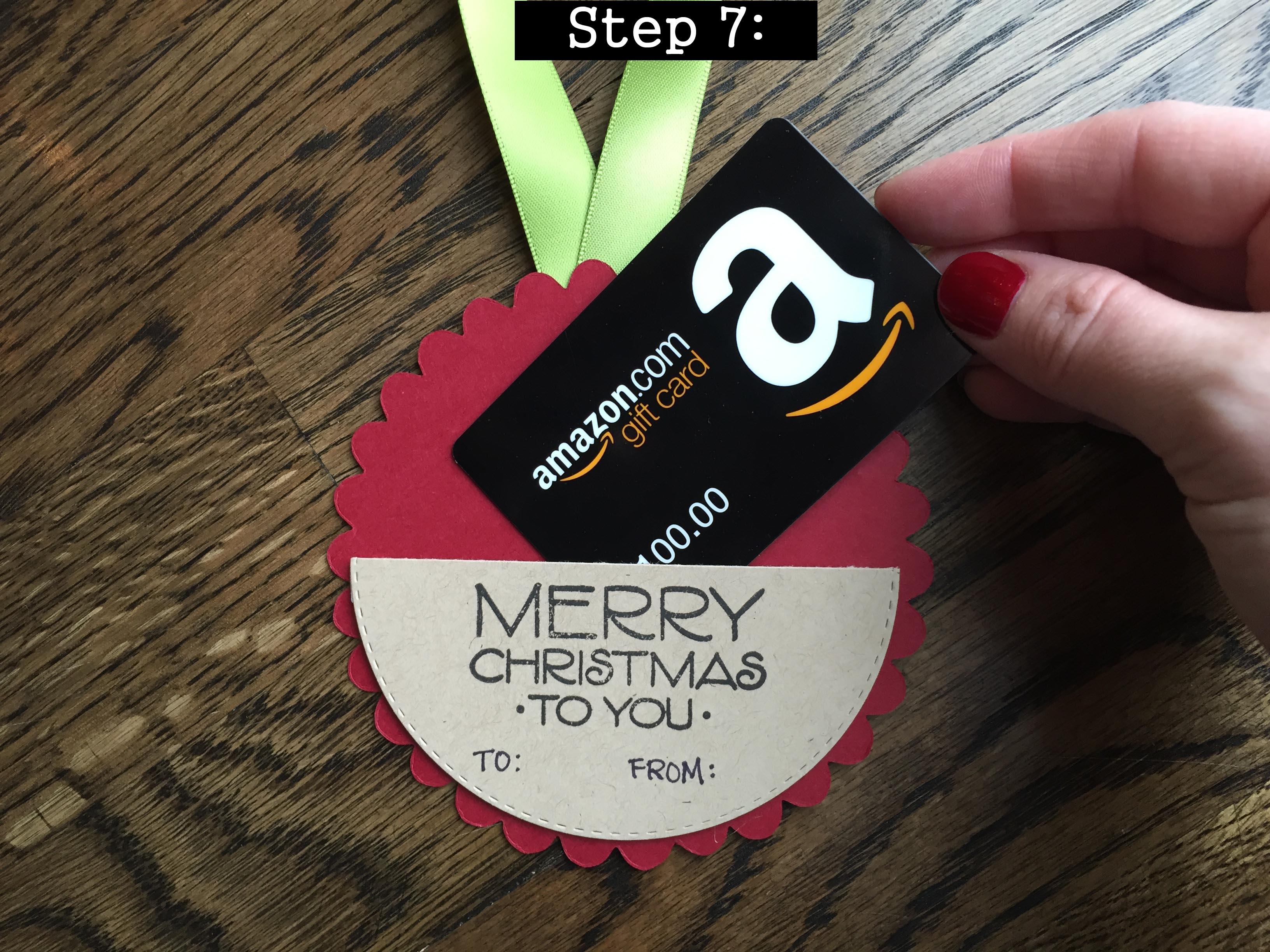 Christmas Ornament Gift Card Holder