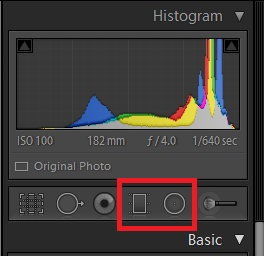 Lightroom filters - Filter tools