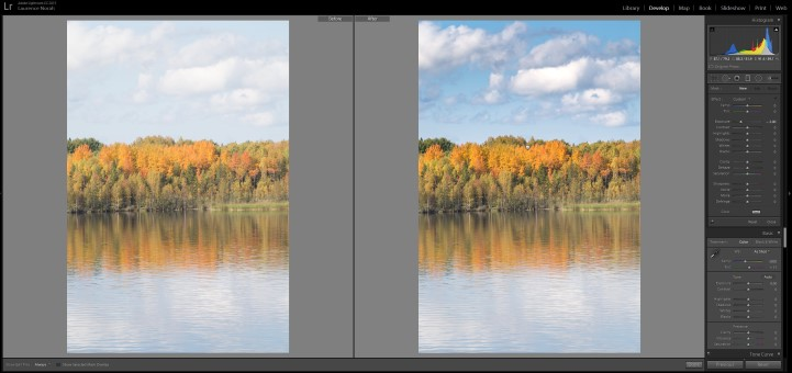 Lightroom filters - graduated filter