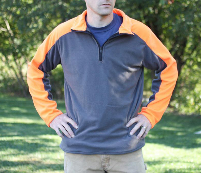 Men's quarter zip fleece pullover jacket