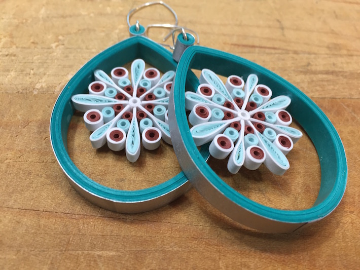 Image of quilled earrings by Little Circles