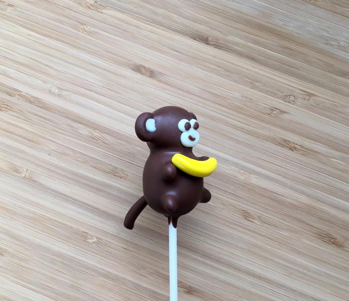 Monkey cake pop side