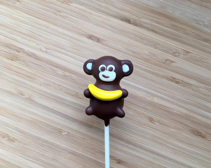 Monkey cake pop front