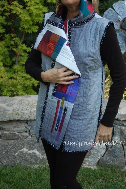 quilted wrap vest