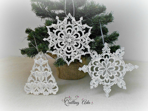 Image of ornaments made by Paper Art By Ada