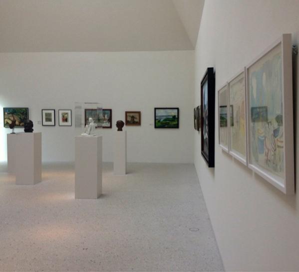 attending an art gallery opening