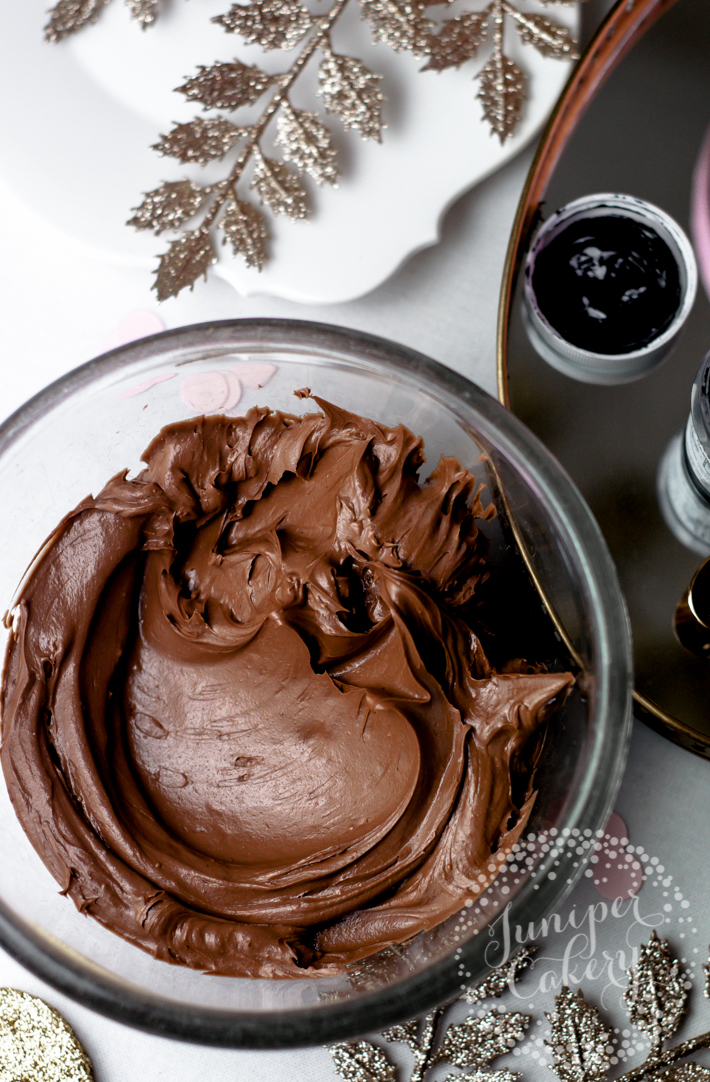 Bowl of chocolate buttercream