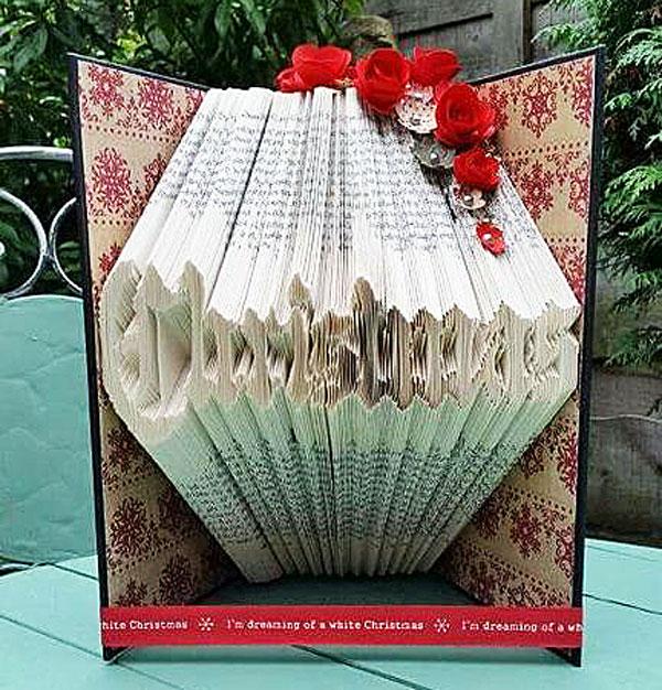 Christmas Book Fold Pattern