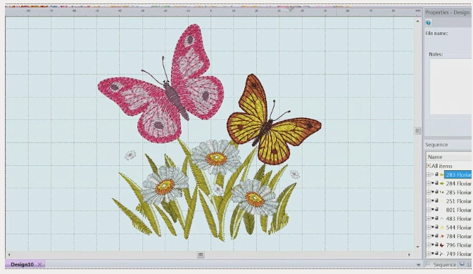 butterfly designs on screen