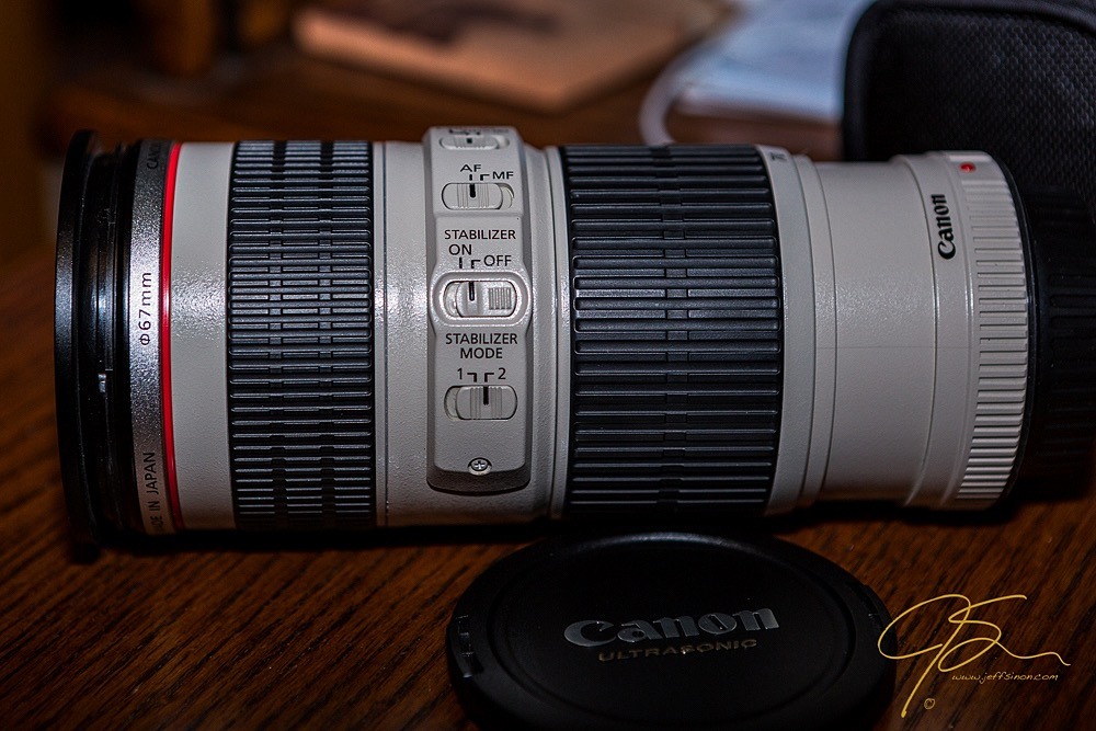Canon 70-200 F4L IS image stabilized lens.