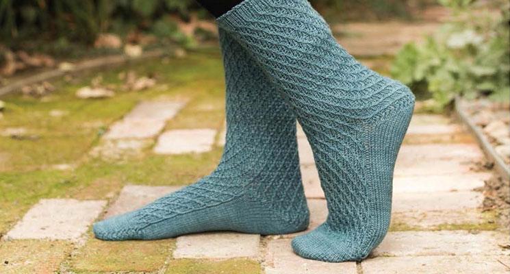 Blue Knit Socks