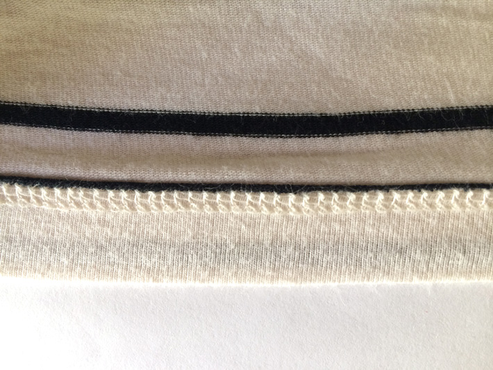 Coverstitch on knit fabric