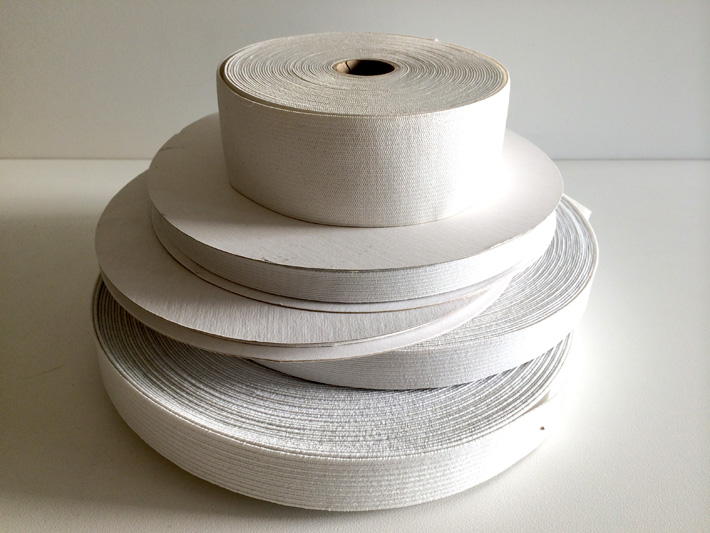 Rolls of elastic for sewing