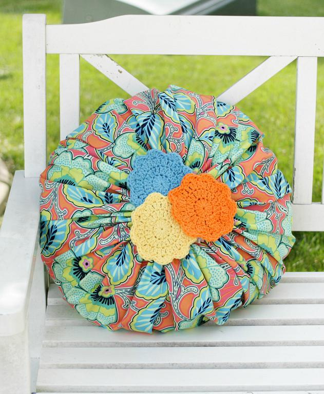 Blossom Doily Pillow FREE Sewing Pattern