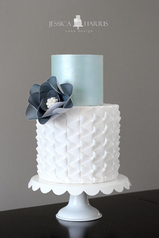 Neat ruffle cake by Bluprint instructor Jessica Harris