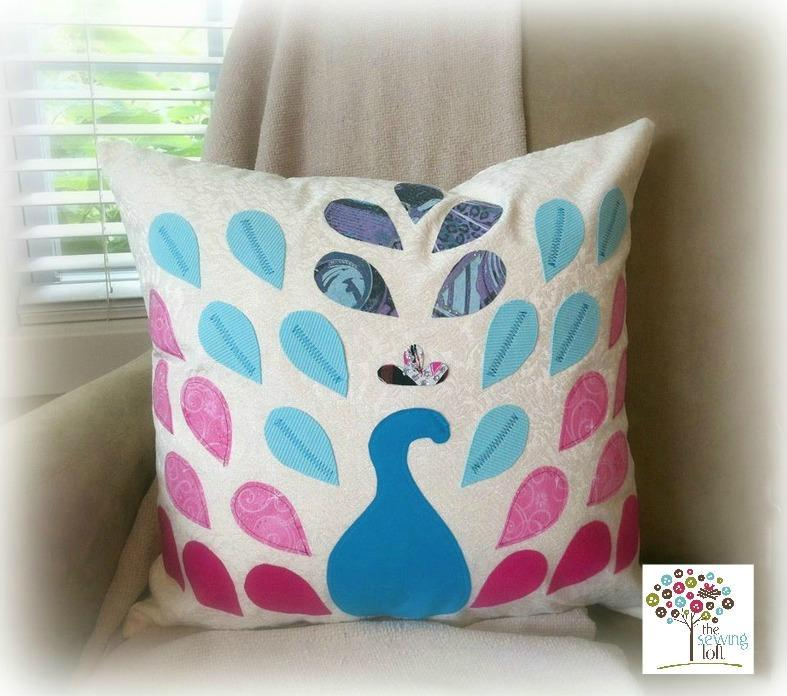 Peacock Pillow FREE Sewing Pattern