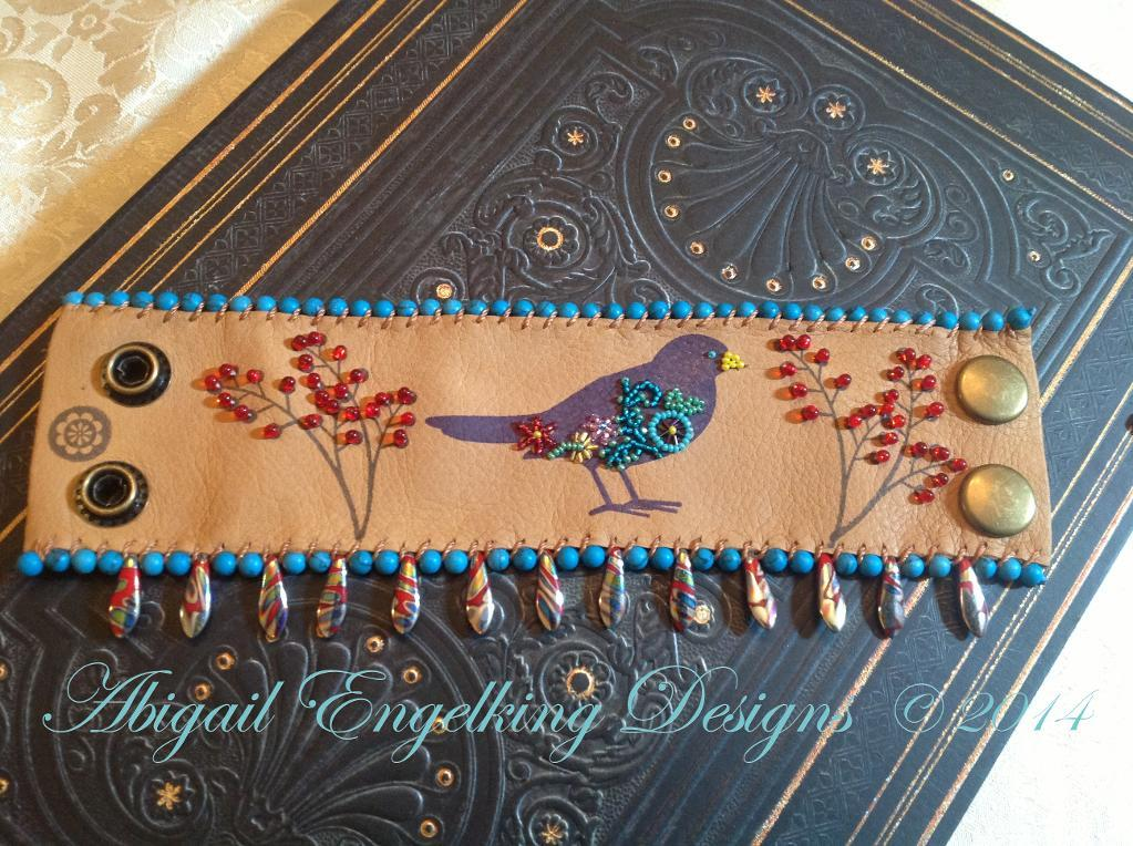 Robins Song Stamped Leather Cuff Bracelet Tutorial