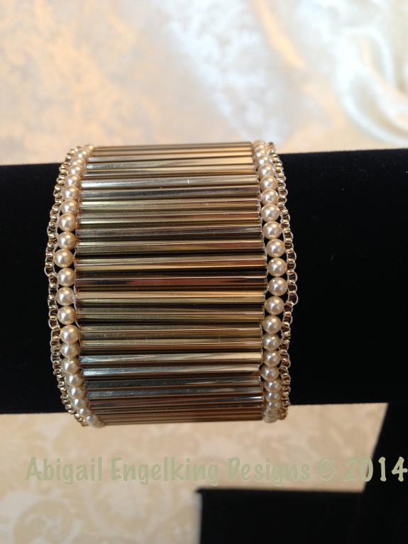 Golden Cuff Beaded Bracelet Tutorial