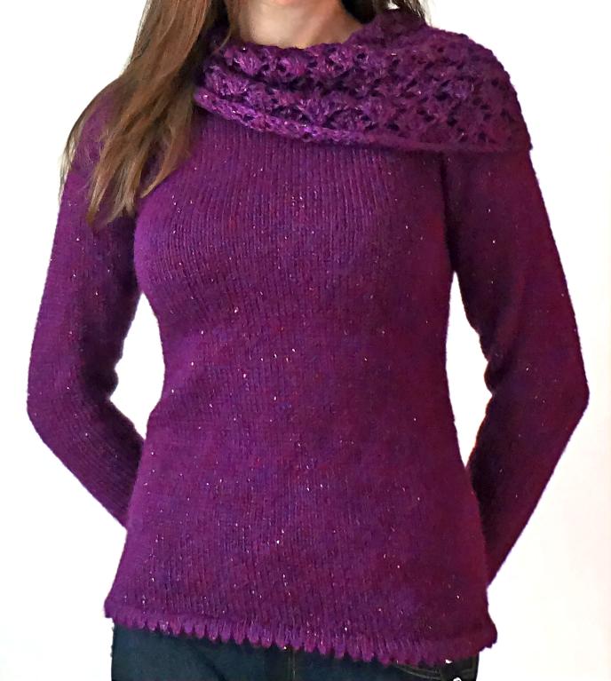 Lacy Cowl Tunic Knitting Pattern