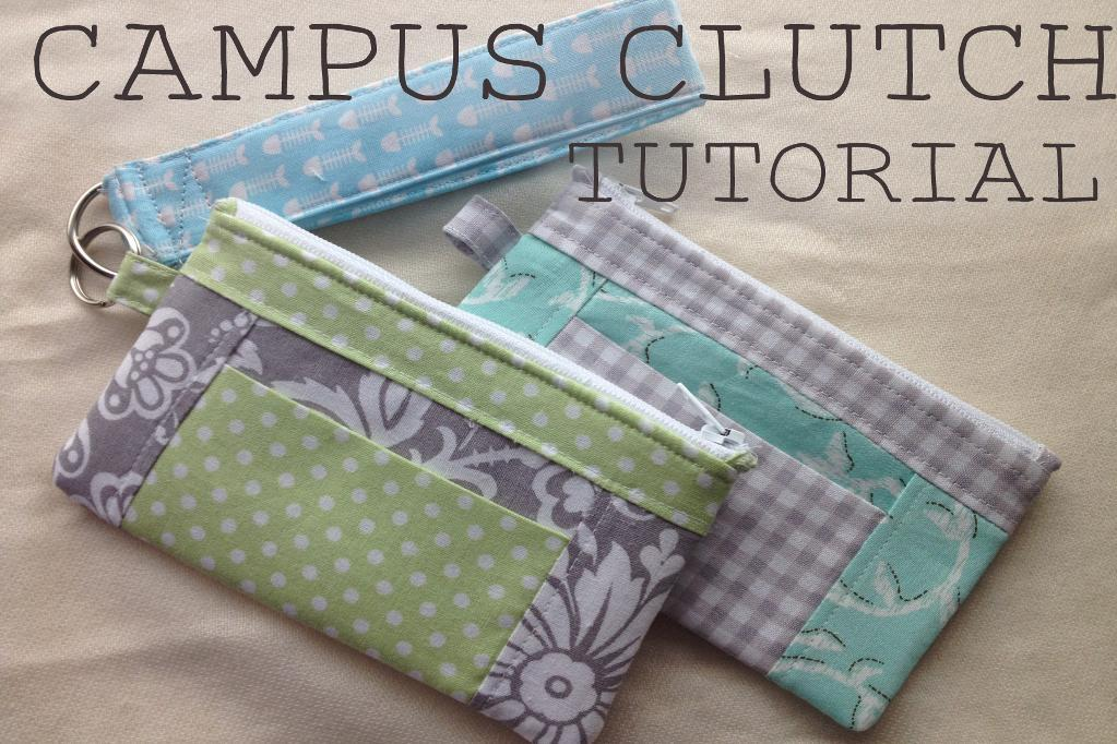 The Campus Clutch FREE Sewing Pattern