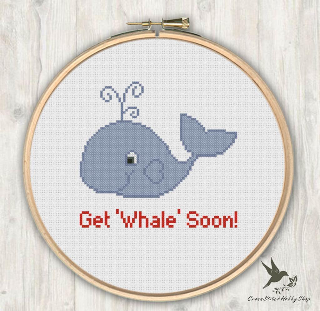 Get Whale Soon Cross Stitch Pattern