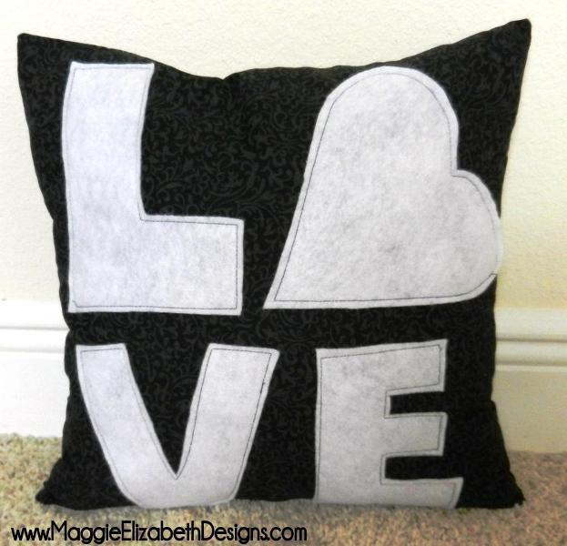 Love Pillow FREE Sewing Pattern