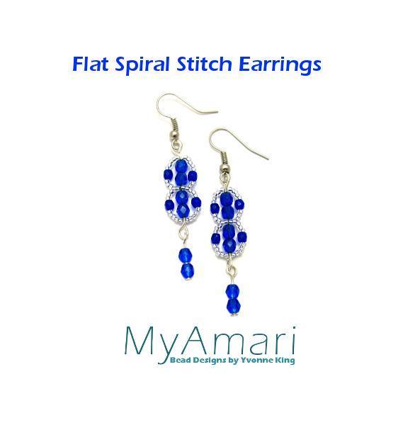 Flat Spiral Stitch Earrings FREE Tutorial