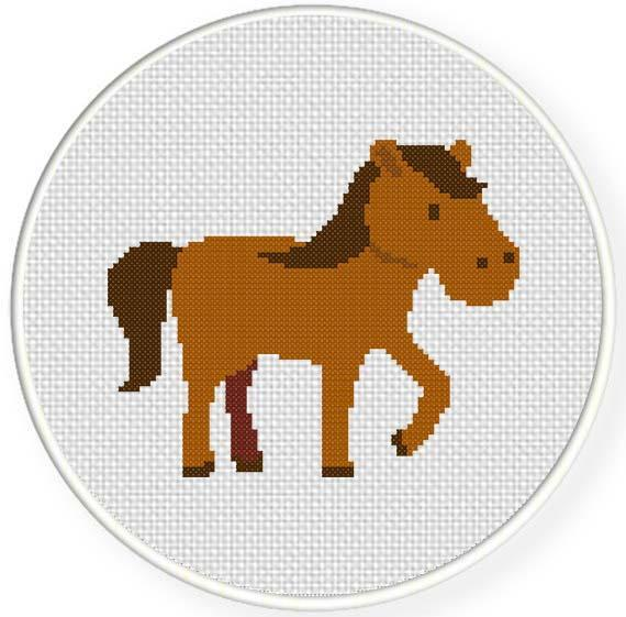 Simple Horse Embroidery Design