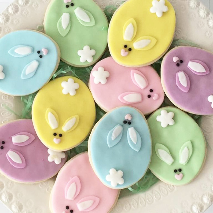 Simple shapes turned into cute animals make sweet cookie decorating ideas