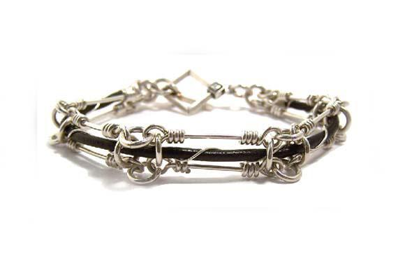 Caged Leather Bracelet Tutorial