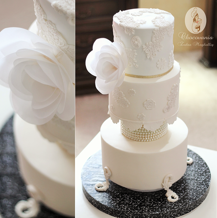 Vintage fashion inspired wedding cake by Bluprint member Zahra Ali