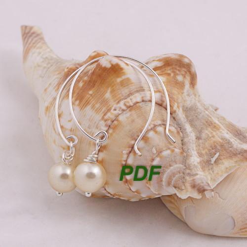French Hoop Dangle Earrings FREE Pattern