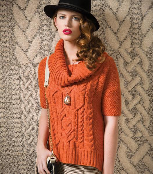 Cowl  Neck Top Knitting Pattern