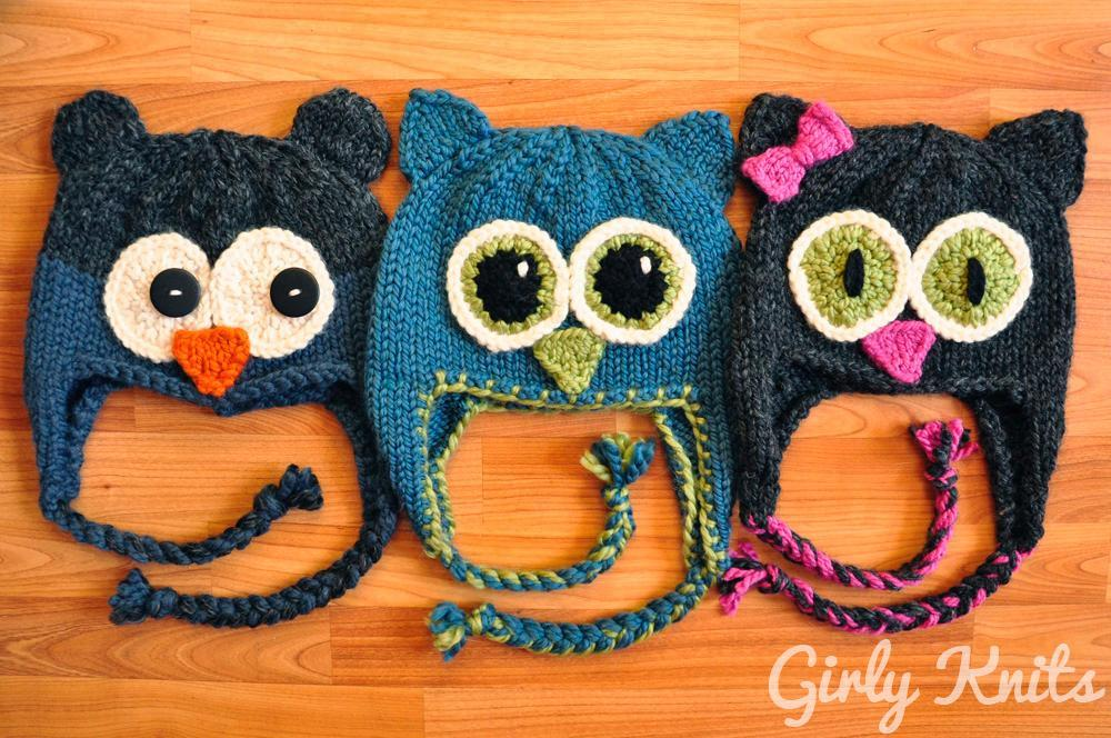 Owl Be There Knitted Hat Pattern