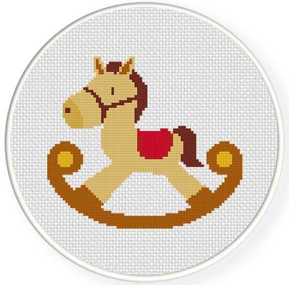 Rocking Horse Cross-Stitch Pattern