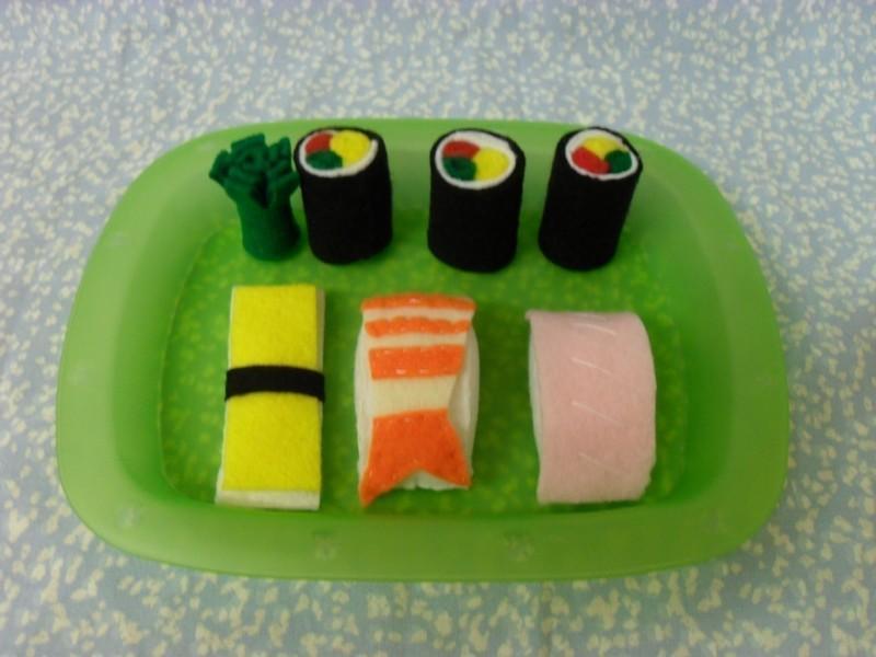 Felt Food Sushi FREE Sewing Pattern