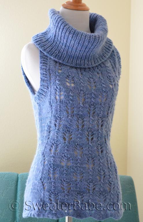 Malabrigo Sleeveless Cowl Neck Sweater Knitting Pattern
