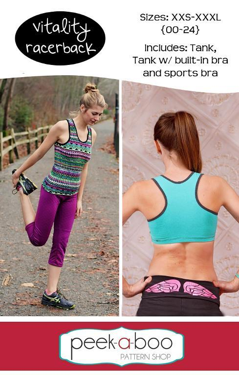 Vitality Racerback Tank & Sports Bra Sewing Pattern