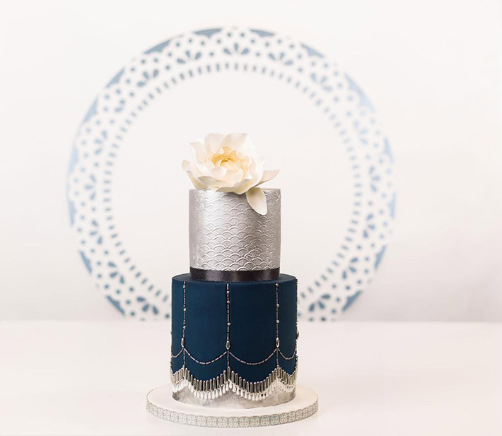 Art deco inspired cake by Bluprint instructor Faye Cahill