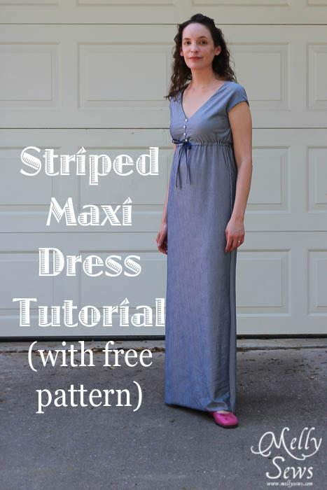 Striped Maxi Dress FREE Sewing Pattern