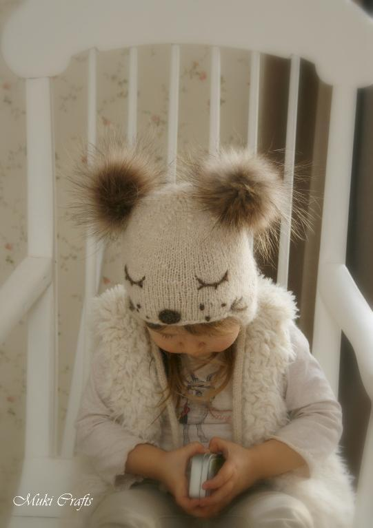 Ear Flap Hat Snow Dog Knitting Pattern