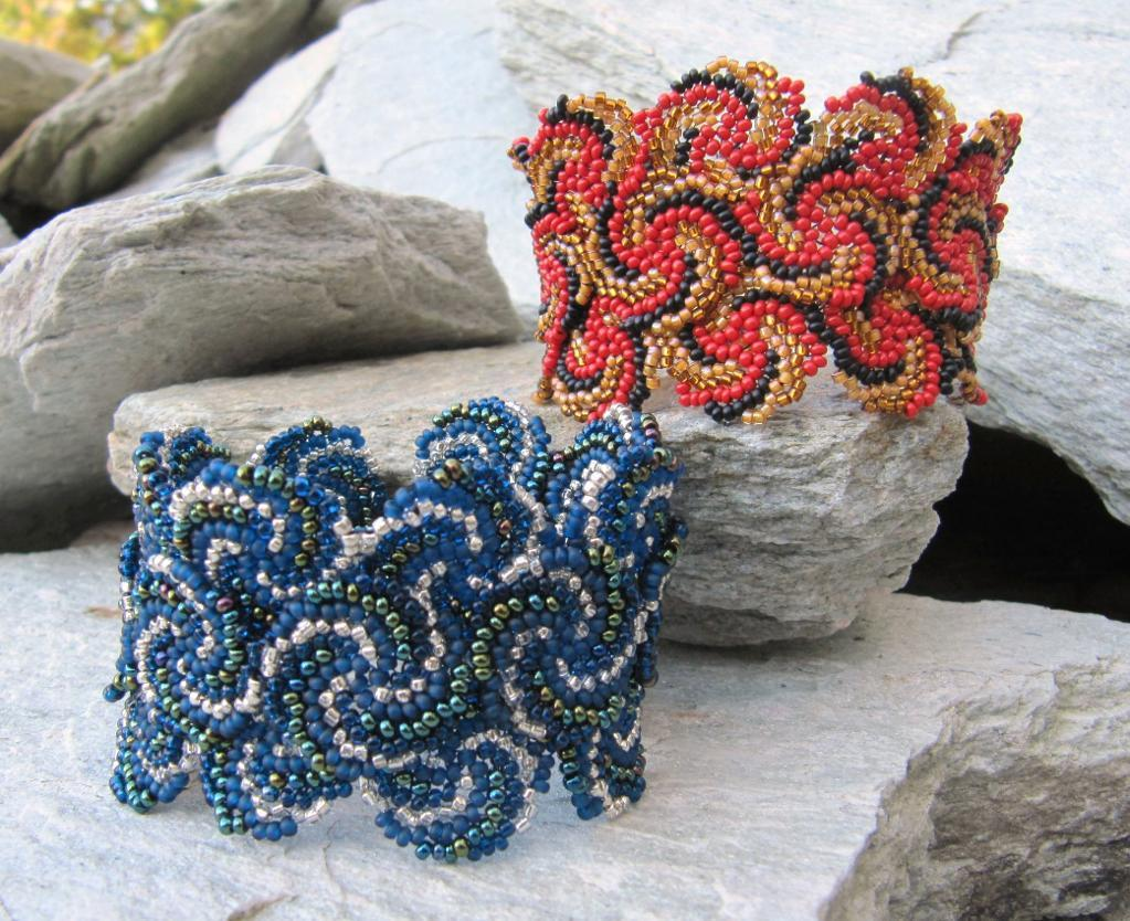 Fire and Ice Beaded Cuffs Tutorial
