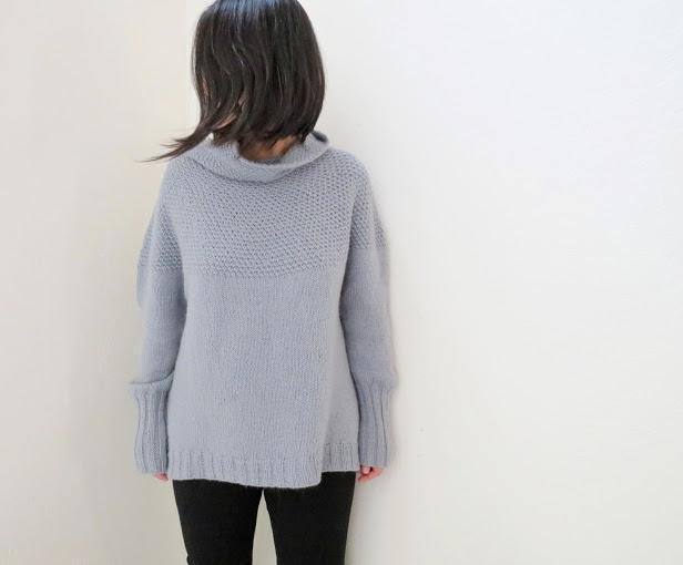 Cowl Belle Sweater Knitting Pattern