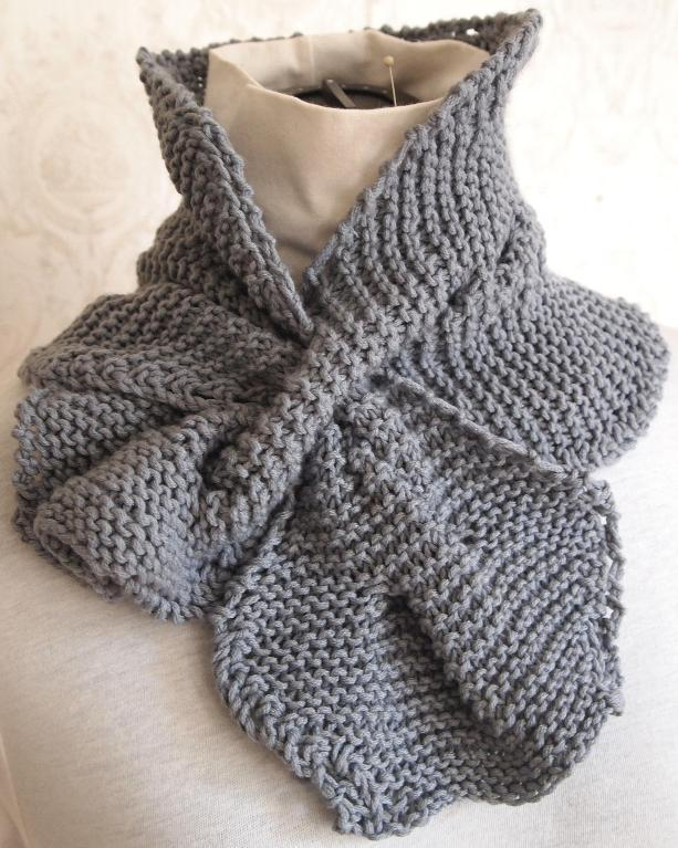 Cabled Garter Scarf