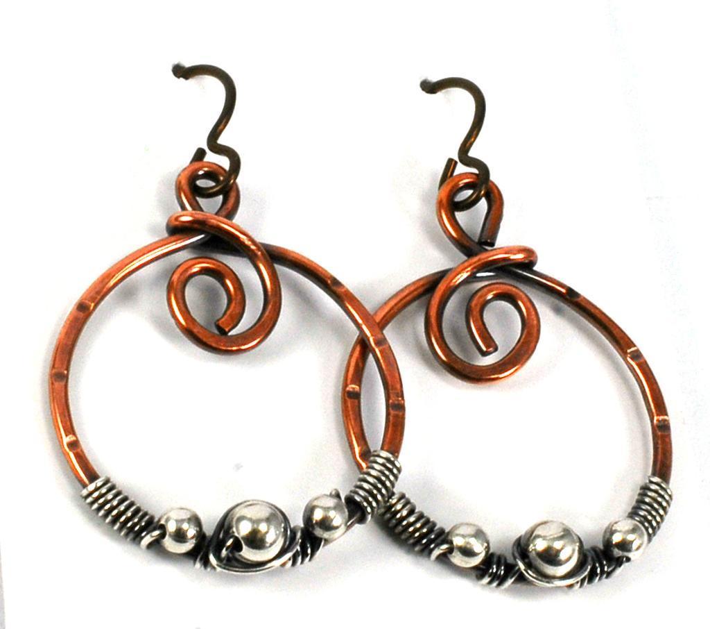 Orion's Belt Beginner Wire Earrings FREE Pattern