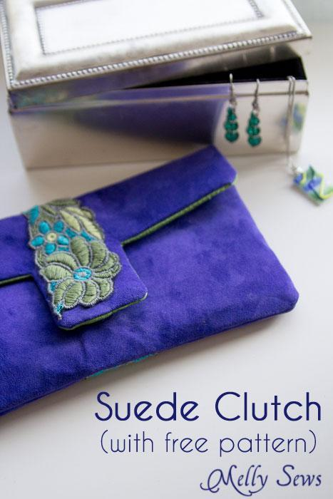 Cobalt Clutch FREE Sewing Pattern
