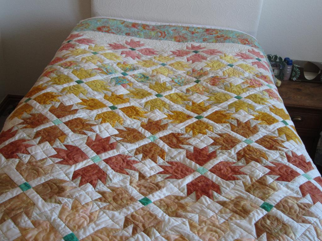 gradient flower power quilt pattern